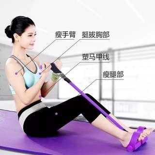 🚚 仰卧起坐健身器、家用輔助器、收腹器、拉力繩腳蹬拉力器