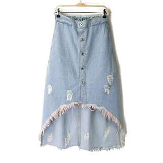 High Waist Retro Denim Skirt