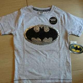 Brand New In Tag Batman DC Boy Reversible Sequins Tee 7-8Y