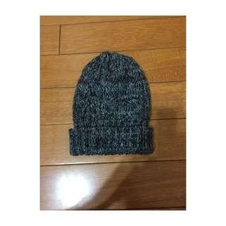 韓系針織灰毛帽