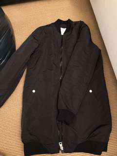 M BOUTIQUE LONG BOMBER JACKET SIZE SMALL