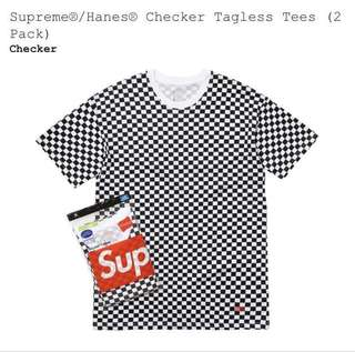 Supreme Hanes Checker Tagless Tee Size S