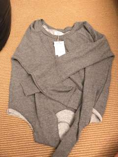 TIE FRONT SWEATER SIZE SMALL
