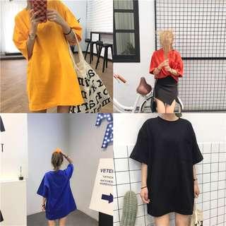 Women Basic Tee Dress