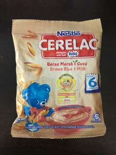 20packs Nestle Cerelac(Beras Merah & Susu) - 6 months