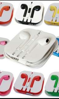 *FREE MAILING CHEAPEST/BEST QUALITY Colored Apple Earpods