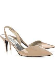 Stella McCartney Nude/Beige Patent Pointed Slingback Heels