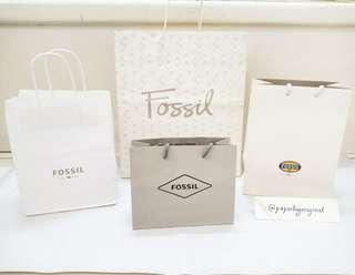 Fossil Paperbag Original authentic paper bag