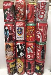 懷舊 可口可樂 空罐 一堆