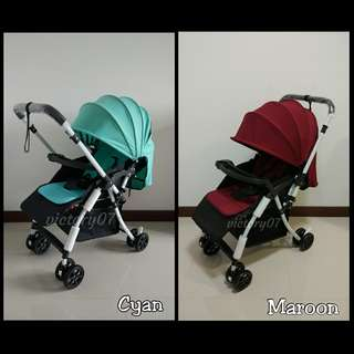 BN Baby Stroller Lightweight/Maroon, Cyan, Beige colours available (Instock)