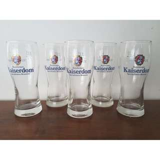 Brand NEW*** 5  pieces Brauerei Kaiserdom Beer glass 300ml