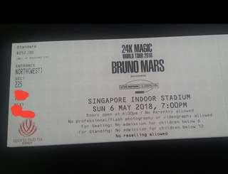 Bruno Mars 24k cat 3x3 magic tour 2018 physical ticket not e ticket