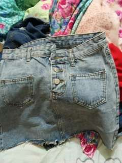 Unique denim skirt for sale (ready stock)