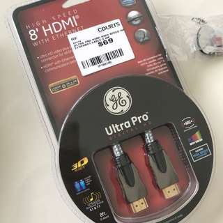 8' high speed HDMI Cable with Ethernet