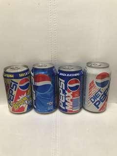 懷舊 百事可樂 空罐 四個