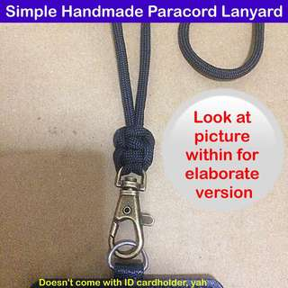 Handmade Paracord Lanyard (Simple version) with swivel lobster clasp  (Paracord550; can opt for thin satin cord) [ gifts handmade uncle.anthony uncle anthony uac 2bump]