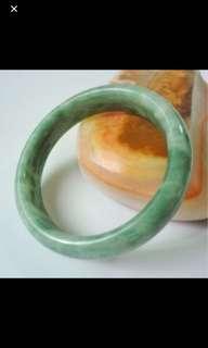 Natural green jade