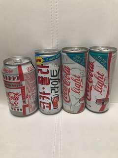 懷舊 健怡可樂 空罐 四個