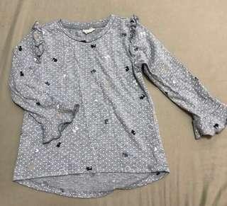 Girls - Grey Long Sleeve Top | 2-3yrs