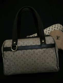 Auth Louis Vuitton Josephine Mini Lin H. Bag