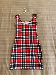 SUPRE | Stretch Plaid Dress