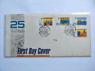 Singapore FDC 25yrs TV