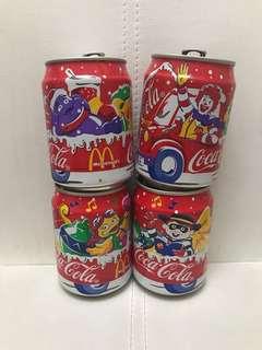 懷舊 麥當勞x可口可樂 空罐 四個