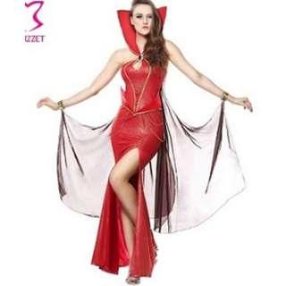 Red Full Length Queen /Vampire Costume