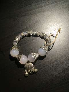 Sterling silver with pearl bracelets