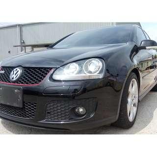 2008年 黑 GTI  2.0L  全車系0元交車!!讓你不用任何現金把車開回家