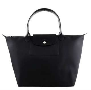 Authentic Longchamp Planetes M Size short handle tote bag