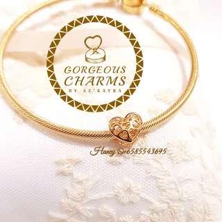 Love Pau Bead 916 Gold Charms