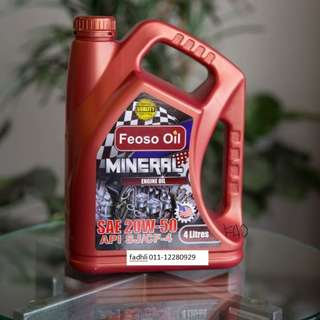 PROMOTION Engine Oil / Minyak Enjin FEOSO Oil 20W50 PLUS