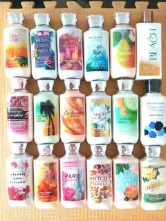 Authentic Bath & body works lotions