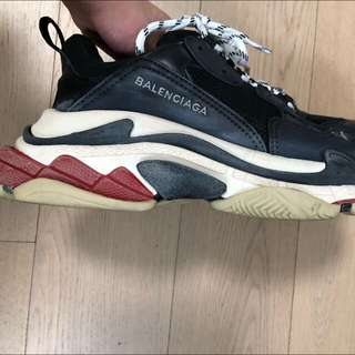 Balenciaga Triple S black red sneakers