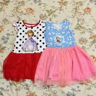 Toddler Kids Dress (Princess Sophia & Elsa)