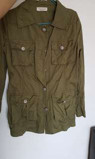 Zara military jacket female