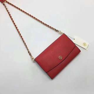 Tory Burch Wallet On Chain / crossbody / sling bag - red