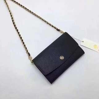 Tory Burch Wallet On Chain / crossbody / sling bag- black