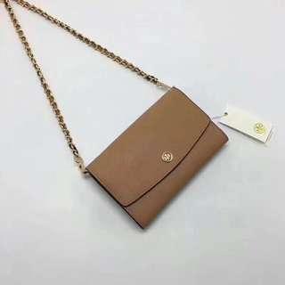 Tory Burch Wallet On Chain / crossbody / sling bag - brown