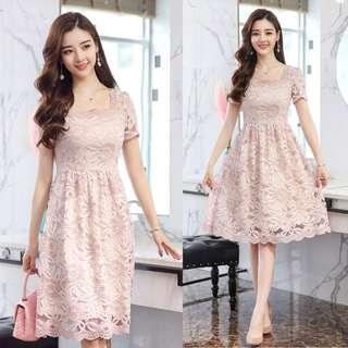 Vintage Lace Short Dress