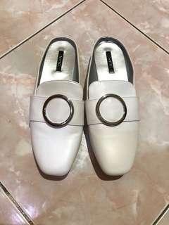 VNC vincci shoes mules slip on white