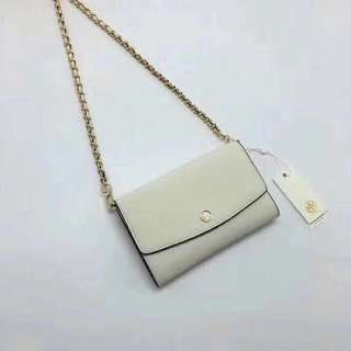 Tory Burch wallet On Chain / crossbody/ sling bag - white