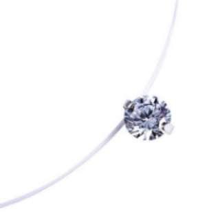 Zircon Fishing Line Necklace