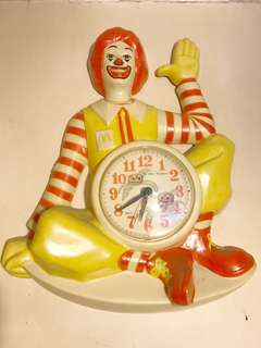 Old 80's Ronald McDonald Clock