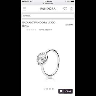Size 52 pandora ring