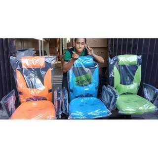 HB-9002H MIDBACK CHAIRS - ORANGE  BLUE & GREEN--KHOMI