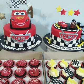 Cars themed cake &cupcakes