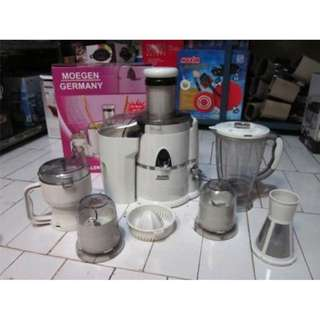 Hadiah Lebaran Jus Extractor Moegen Germany 7in1 Juicer Blender