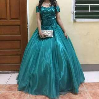 OFF SHOULDER BALL GOWN FOR RENT/SALE